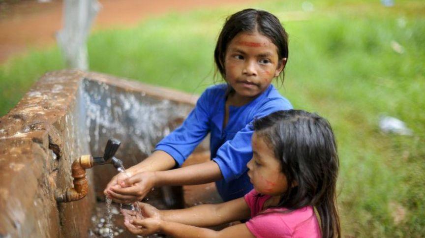 Crianças indígenas da etnia no guarani, no Rio de Janeiro