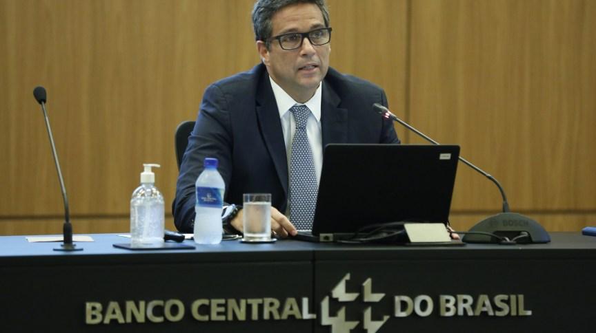 O presidente do Banco Central, Roberto Campos Neto, durante apresentação de medidas de combate aos efeitos da COVID-19