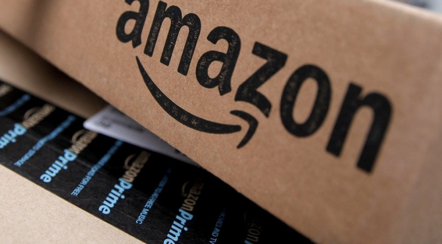 Caixa de encomenda da Amazon. 29/1/2016.