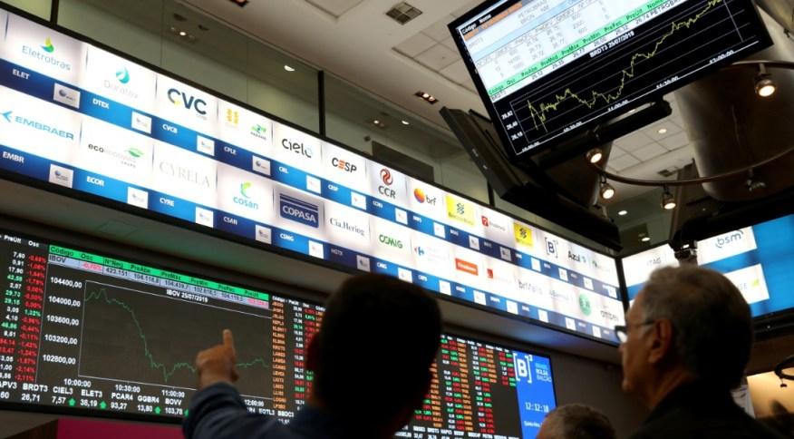 Investidores na B3, em São Paulo
