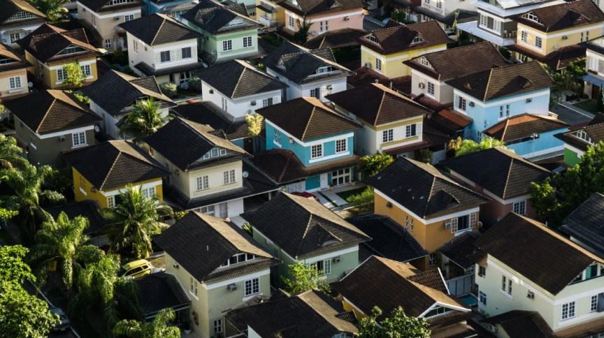 Imagem aérea de bairro residencial
