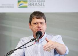 Ministro da Infraestrutura, Tarcísio de Freitas, falou sobre os planos para a Codeba em seminário nesta quarta-feira (19)