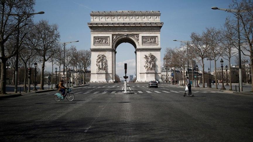 Arco do Triunfo, em Paris, na França