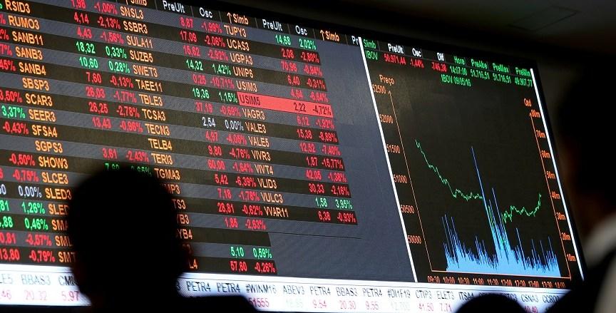 Dia de pregão na bolsa de valores de São Paulo (09.Mai.2016); Ibovespa registrou queda de 10,11% até o circuit breaker