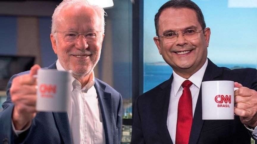 Os novos comentaristas da CNN, Alexandre Garcia e Sidney Rezende