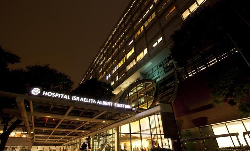 Fachada do hospital Albert Einstein no Morumbi, zona sul de São Paulo
