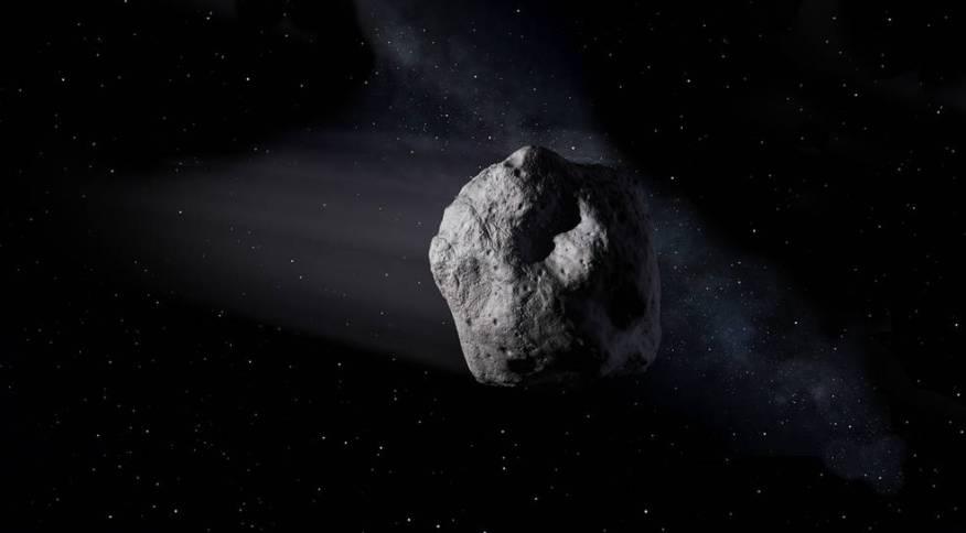 Representação artística de asteroide
