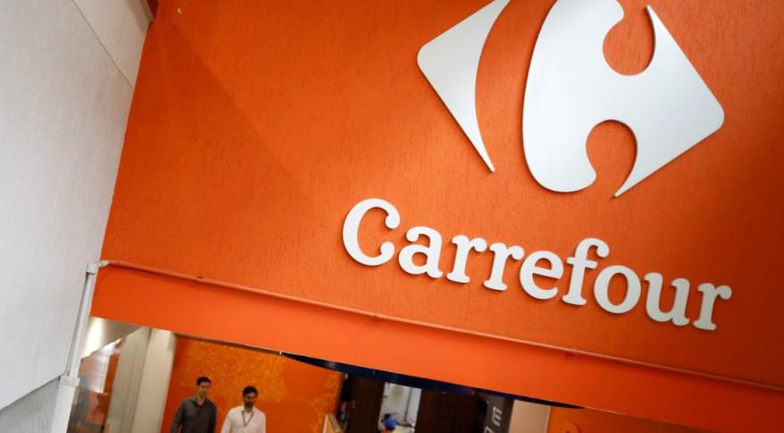 Supermercado do Carrefour: o e-commerce disparou durante a pandemia