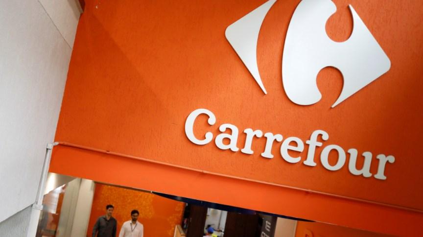 Logotipo do Carrefour, maior varejista do Brasil