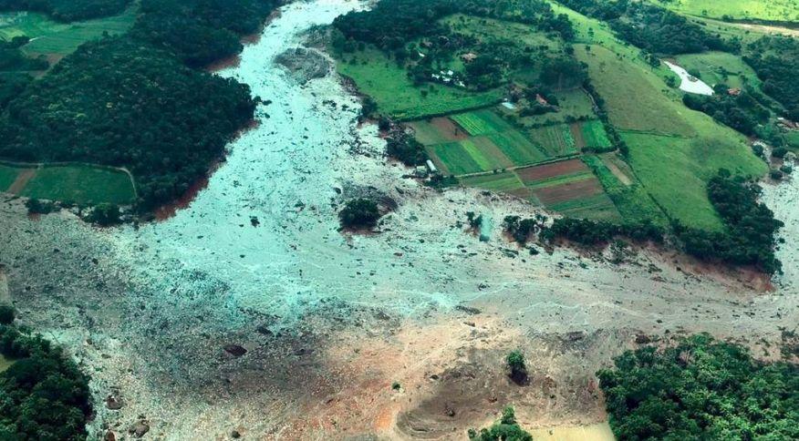 Região atingida pelo rompimento da barragem Mina Córrego do Feijão, em Brumadinho (MG)