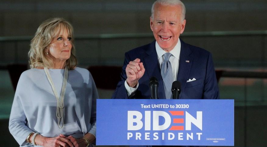 Pré-candidato presidencial democrata Joe Biden na Filadélfia