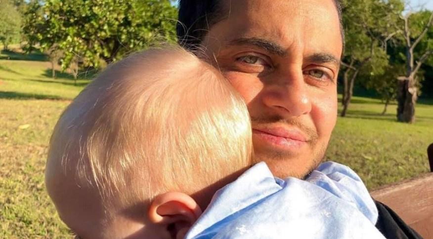 Thammy Miranda e seu filho: ator participará da campanha do dia dos pais deste ano da Natura