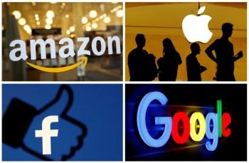 Amazon, Apple, Facebook e Google são os principais nomes que poderiam ter que reestruturar operações caso pacote de propostas seja aprovado