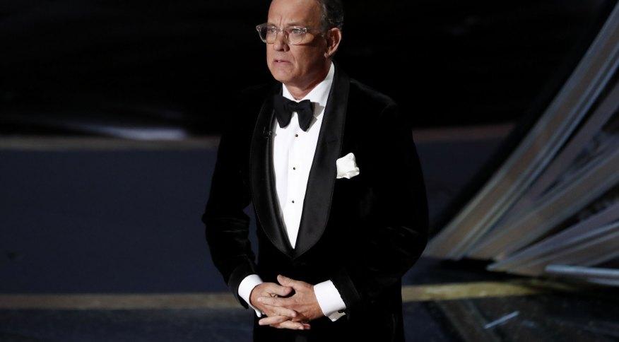O ator Tom Hanks durante cerimônia do Oscar