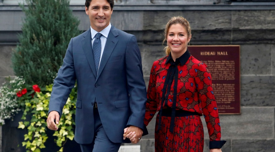 O primeiro-ministro do Canadá, Justin Trudeau, e sua esposa Sophie Trudeau