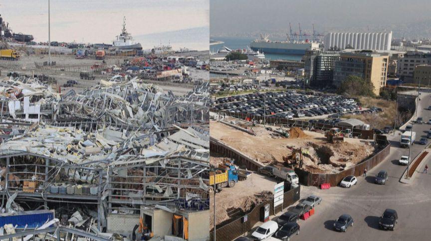 Beirute: imagens de antes e depois da explosão em região portuária no Líbano