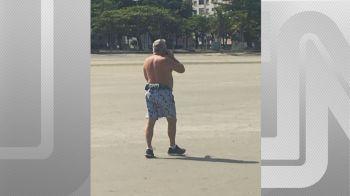 Em nota, Siqueira afirmou que não pode confirmar se as imagens divulgadas pela mulher foram registradas na data