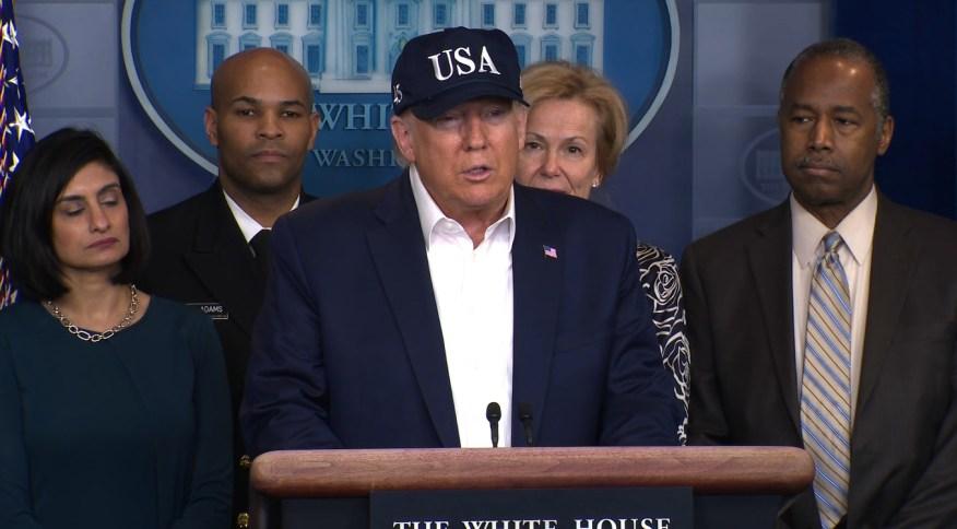 Trump disse que o exame foi enviado a um laboratório e pode levar de um a dois dias para sair o laudo