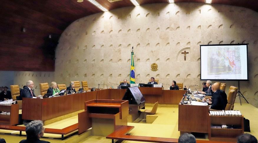 Os ministros do STF em sessão de julgamento semana passada