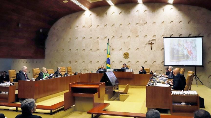Os ministros do STF, em reunião na semana passada