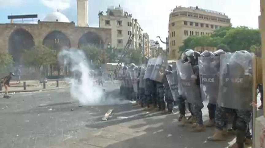 Manifestação acontece neste sábado no Líbano (8.ago.2020)