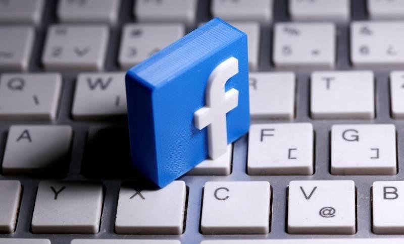 Imagem ilustrativa com logo do Facebook
