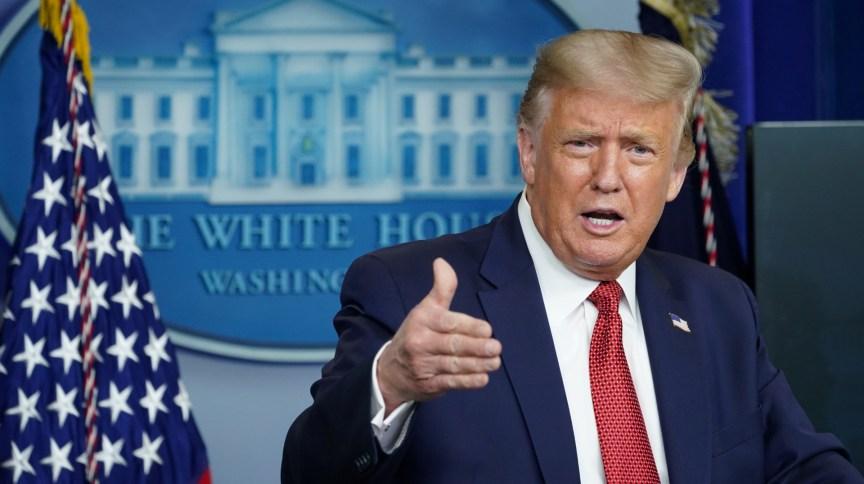 Presidente dos EUA, Donald Trump, na Casa Branca