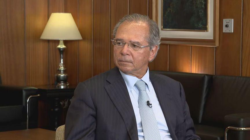 O ministro da Economia, Paulo Guedes, concede entrevista exclusiva à CNN Brasil