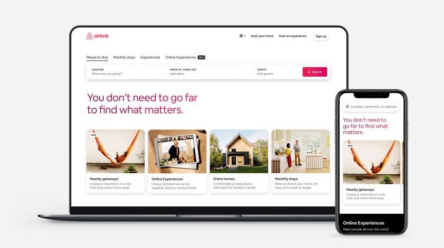 Site do Airbnb, plataforma de aluguel de casas e apartamentos para turismo