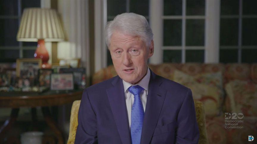 Bill Clinton discursa em convenção do Partido Democrata (18.ago.2020)