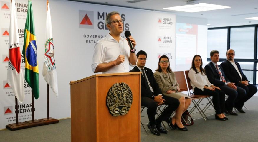 O governador de Minas Gerais, Romeu Zema (Novo)