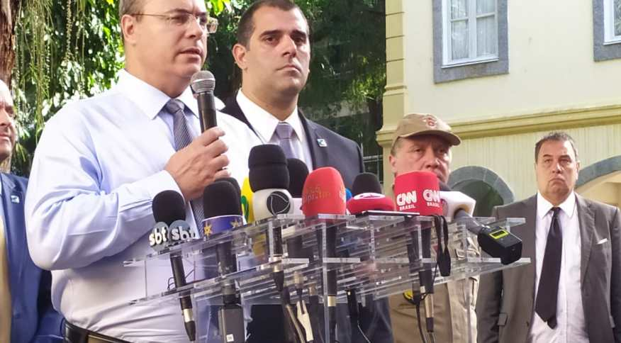 O governador do Rio, Wilson Witzel (PSC), anuncia medidas contra o novo coronavírus