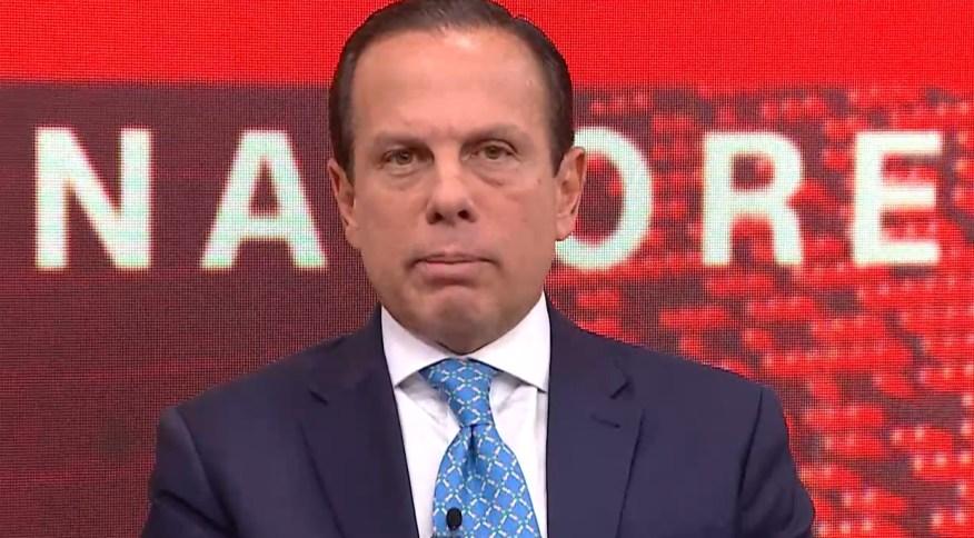 O governador de São Paulo, João Doria (PSDB), concede entrevista à CNN Brasil