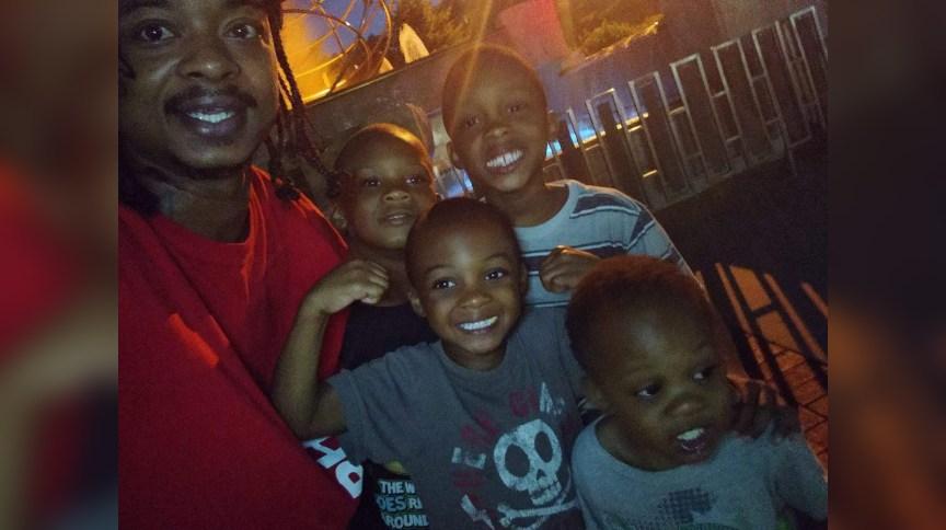 Jacob Blake e seus três filhos