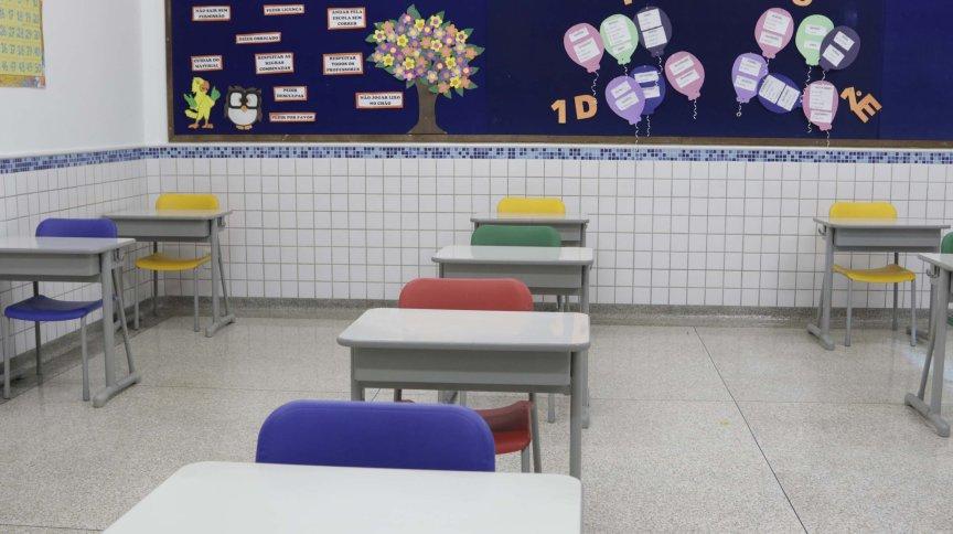 Escola particular em Campinas, São Paulo, se prepara para retomar aulas presenciais