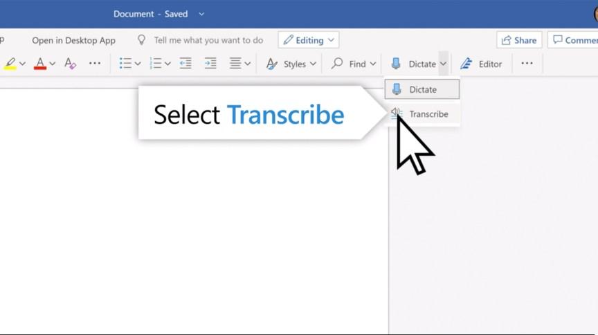 Nova função do Microsoft Word permite transcrever áudios