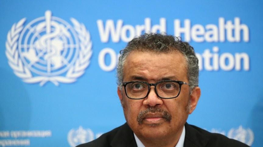 Tedros Adhanom, diretor-geral da OMS, durante coletiva de imprensa em Genebra