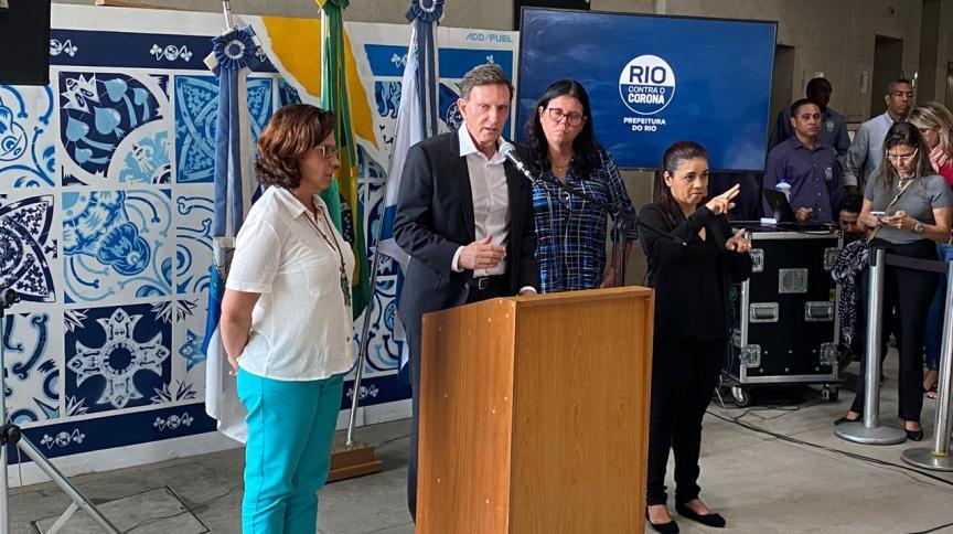 Em entrevista coletiva, o governador Marcelo Crivella também anunciou o fechamento de dez parques municipais, para frear coronavírus
