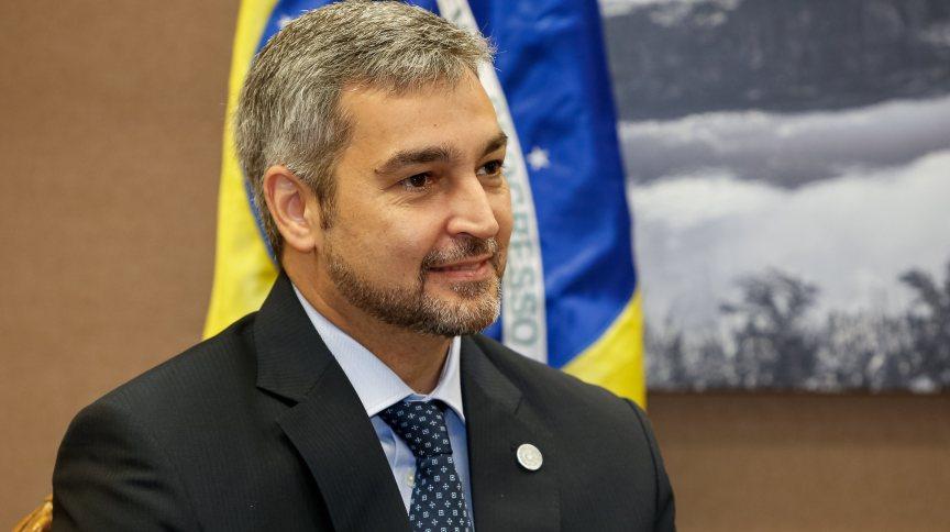 26.fev.2019 - Presidente do Paraguai, Mário Abdo Benitez