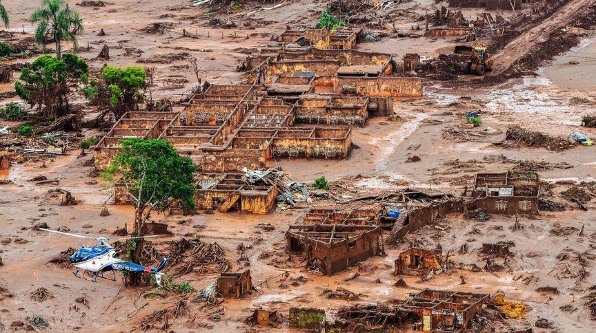 Desastre de Brumadinho, em 2019: segundo analistas, a Vale avançou na agenda ESG após seguidas quebras de barragens