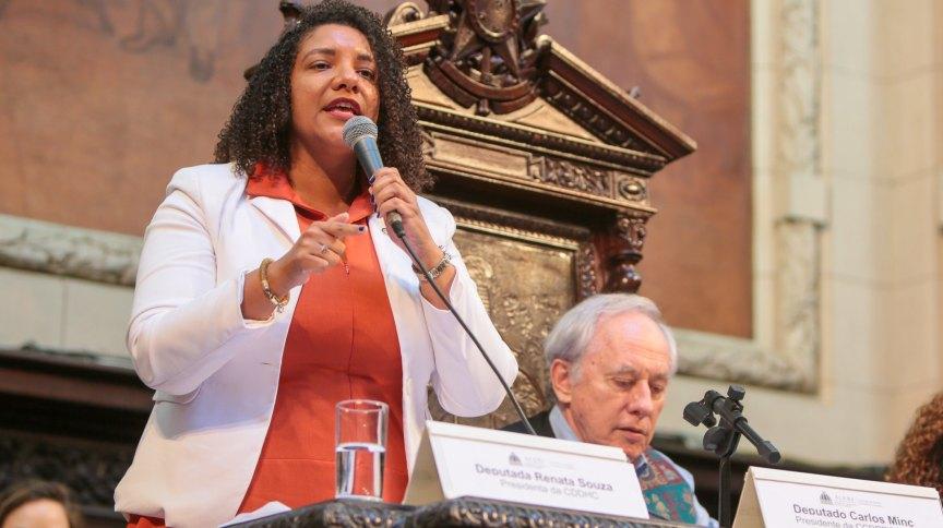 O PSOL oficializou a candidatura da deputada estadual Renata Souza à prefeitura do Rio de Janeiro