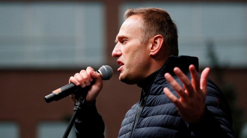 Líder opositor Alexei Navalny discursa em Moscou