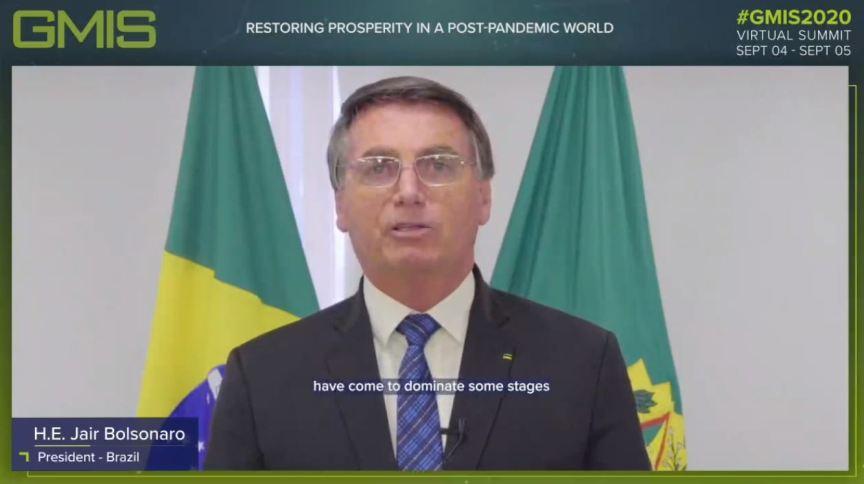 Bolsonaro discursa no Global Manufacturing & Industrialisation Summit