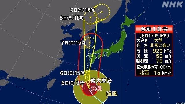 Tufão Haishen se aproxima do Japão continental