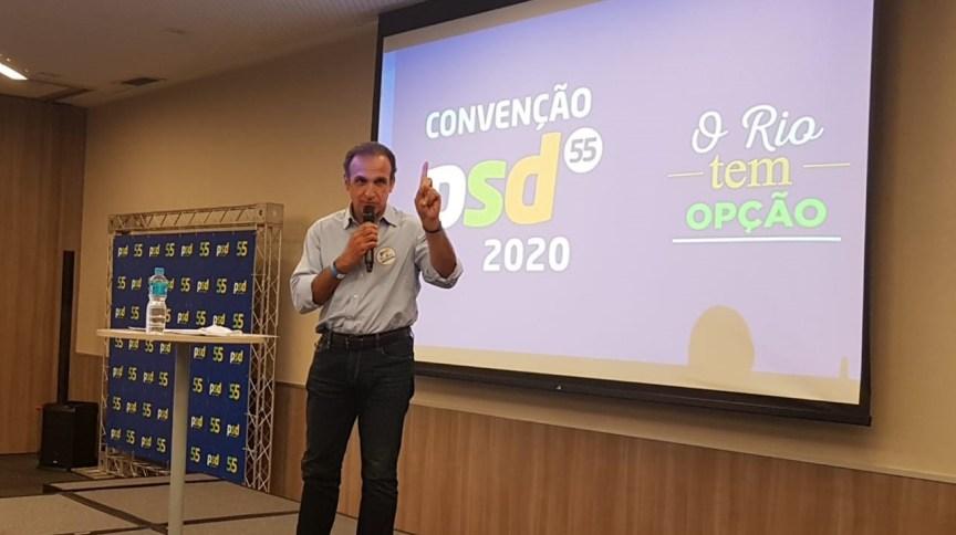 Convenção do PSD confirmou Hugo Leal como candidato à prefeitura do Rio