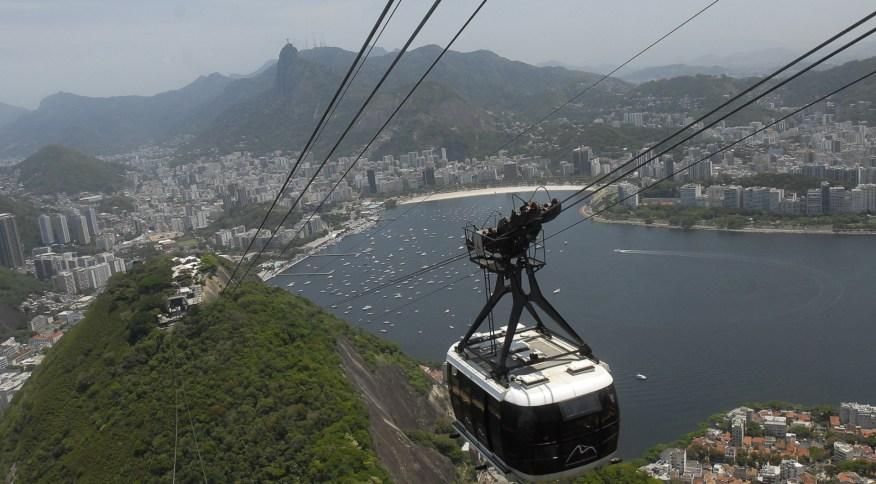Bondinho do Pão de Açúcar, um dos principais pontos turísticos do Rio de Janeiro