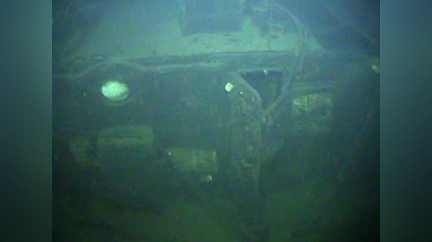 Imagem do naufrágio tirada pelo veículo operado remotamente