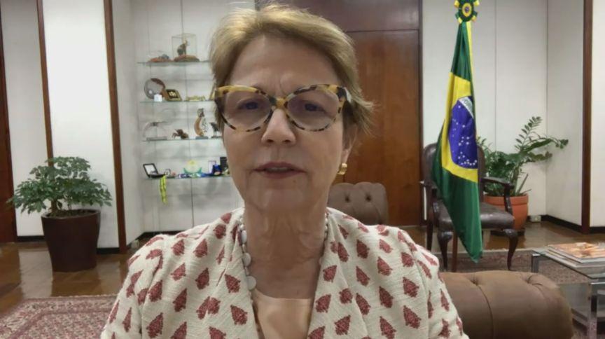 Tereza Cristina, ministra da Agricultura, em entrevista à CNN