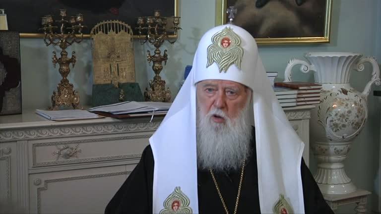 O patriarca Filaret, líder religioso da Ucrânia