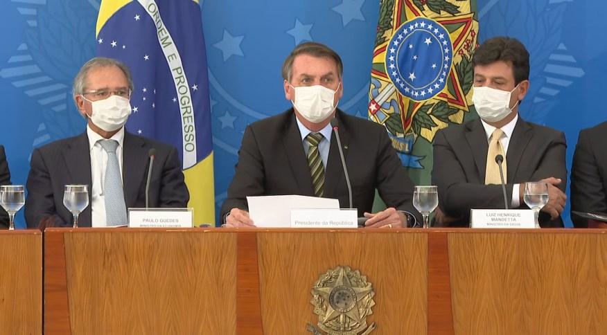 O presidente Jair Bolsonaro informou que o ministro de Minas e Energia foi diagnosticado com coronavírus